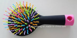Cosmetic Hairbrush Mini Personalized Hair Brush with Color Pins pictures & photos