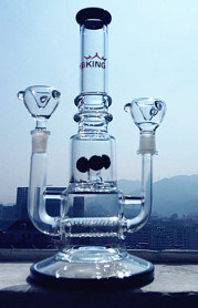 Tube Dual Shower Inline Percolate Water Glass Pipe pictures & photos