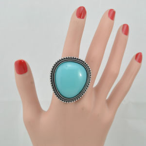 VAGULA 2016 Fashion Silver Plating Turquoise Finger Ring pictures & photos