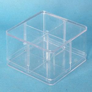 Office Stationery Case Transparent Plastic Box (QX-PB005) 95*95*60mm pictures & photos