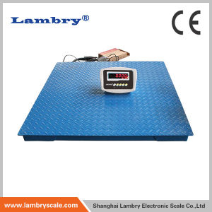 Electronic Floor Scale Carbon Steel Floor Scale with LCD Display