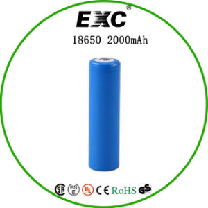 18650 3.7V 2000mAh Cylindrical Lithium Ion Battery pictures & photos