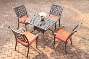 Popular Outdoor Dining Sets Cast Aluminum Furniture pictures & photos