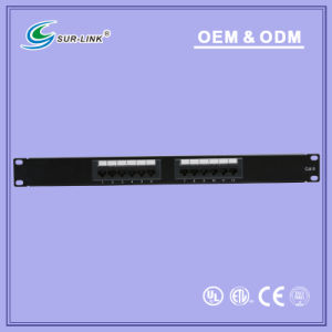 UTP Cat. 6 12 Port 110 IDC with Back Bar Patch Panel pictures & photos