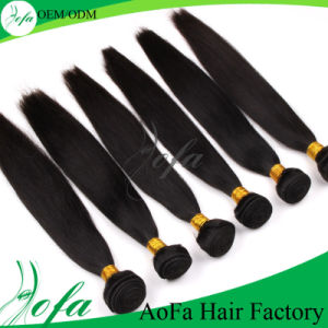 Natural Black Indian Straight Virgin Human Hair for Beautiful Ladies pictures & photos