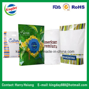 Plastic Bags / Polybag for Die-Cut Patched Bag, Soft Loop Carrier Bag