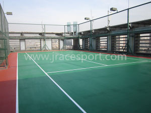 Sport Facilities Synthetic Rubber Tennis Court Surface Flooring Tile pictures & photos