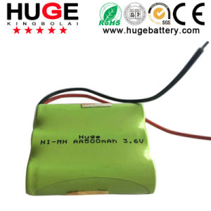 3.6V AA 500mAh Ni-MH Battery (AA) pictures & photos