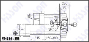 96t Plastic Injection Moulding Machine Hi-G96 pictures & photos