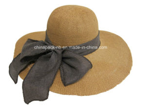 Toyo Sun Hat with Linen Band-and-Bow at Back Boardwalk Style (CPA_90006) pictures & photos