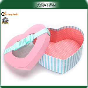 Popular Heart Shaped Gift Paper Box with Clear Window pictures & photos