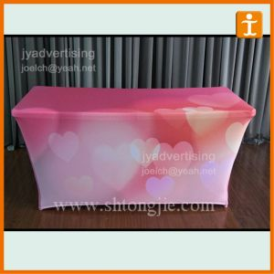 OEM Printing Polyester Session Table Cover (TJ-16) pictures & photos