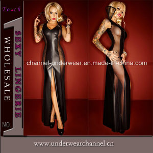 Sexy Women Faux Leather Club Night Wear Lingerie (TLQZ72015) pictures & photos