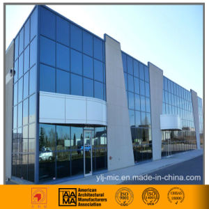 Aluminum/Glass Curtain Wall Cladding (hidden framed/thermal break) pictures & photos