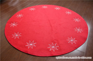 Christmas Non-Woven Round Rugs with Embroidery pictures & photos
