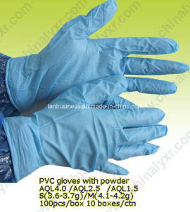 Sterile Powdered PVC Examination Gloves for Sale pictures & photos