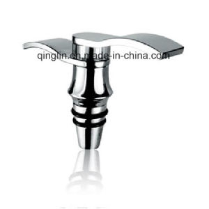 Customized Rubber Ring Abstractive Shape Metal Wine Stopper (QL-HJS-0040) pictures & photos