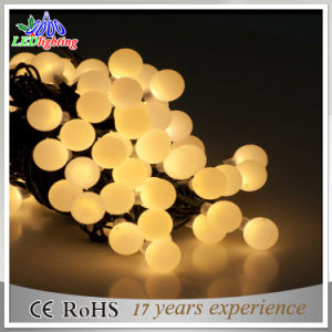 IP65 Outdoor Use LED Rubber Cable Christmas Light Holiday Light Ball String Light pictures & photos