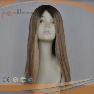 Human Hair Blond Color Skin Top Work Full Cuticle Intact on Hair Front Lace Wig pictures & photos