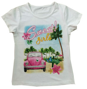 New Design Car Girl T-Shirt in Fashion Kids Clothes Sgt-059 pictures & photos