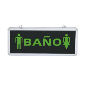 3W Glass Material Fire LED Lighting Sign Spain Emergency Lighting bathroom Sign Light pictures & photos