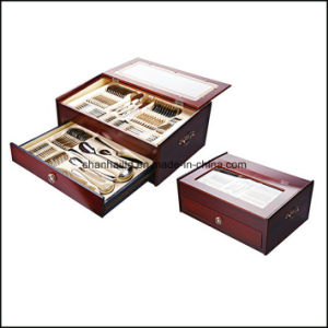 72PCS 84PCS Cutlery Set with Wood Box pictures & photos