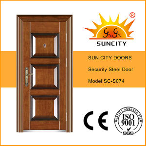 New Sales Egypt 3 Panel Model Steel Security Doors (SC-S074) pictures & photos