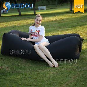 DIY Laybag Inflatable Banana Lay Bag Red Lazy Bean Bag Air Beach Bed Sofa Inflatable Sleeping Bags