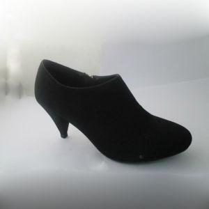 Micro Suede Zipper Lady Close Shoe