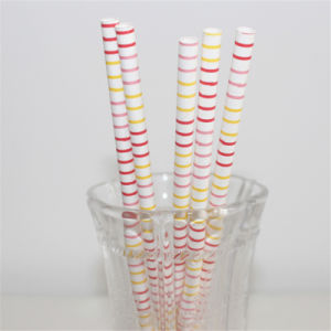 Eco-Friendly Colorful Paper Drinking Straws for Party Decoration pictures & photos