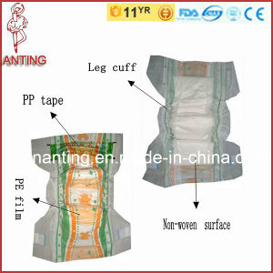 Breathable PE Film Baby Diaper, Disposable Baby Diaper, China Diaper Manufacturer pictures & photos