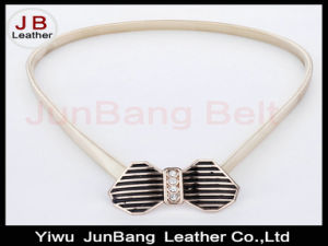 Spring Autumn Vintage Fashionable Bowknot Metal Spring Chain Belt
