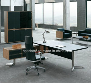 New Wooden Leather PVC Modern Office Desk (V5) pictures & photos