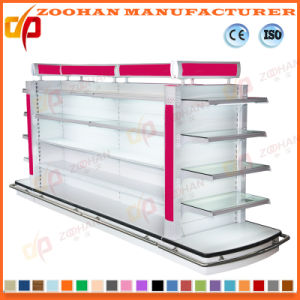Double Sides Cosmetic Supermarket Shelf with Light Box (ZHs637) pictures & photos