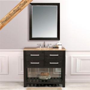 Fed-1117 36inch Single Sink Espresso Hot Sales Solid Wood Bathroom Vanity pictures & photos