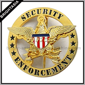 Custom Hard Enamel Metal Police Badge (BYH-10037) pictures & photos
