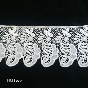 Factory African Lace Fabrics Switzerland Changle Flower Gallon Lace Trim L162 pictures & photos