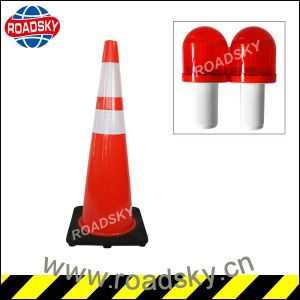 Wholesale High Quality Rebound 750mm Square Yellow PVC Road Traffic Cone pictures & photos