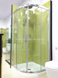 Austalian Certificate Tempered Glass Arc-Shape Shower Room with Tray (H002) pictures & photos