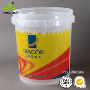 20L Printed Transparent Plastic Bucket pictures & photos