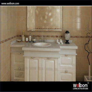 Welbom European Style Solid Wood Mirrored Bathroom Vanity Cabinet pictures & photos