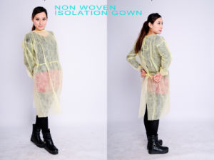 Multi-Ply Lightweight Disposable Yellow Surgical Isolation Gown pictures & photos