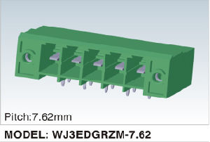 Wanjie Plug-in Terminal Block Connector Can Be Fixed (WJ3EDGRZM-7.62) pictures & photos