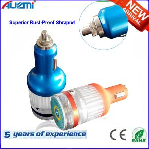 Universal 2.1A safety Hammer Stainless Steel USB Car Charger pictures & photos