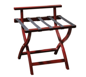 Wooden Folding Hotel Bedroom Luggage Rack pictures & photos