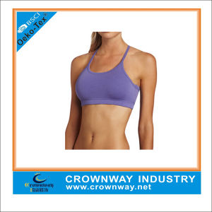 Custom Running, Strappy Back Moving Comfort Bra with Carve Design pictures & photos