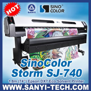 High 1440dpi 1.8m Size Dual Dx7 Heads Printing Machine Sj-740 pictures & photos