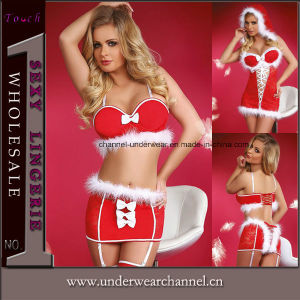 New Year Sexy Cosplay Lingerie Christmas Dance Wear Costume (7277) pictures & photos