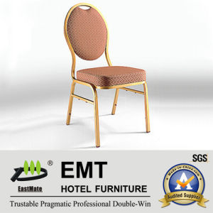 Concise Style Round Metal Wedding Banquet Chair (EMT-R38) pictures & photos