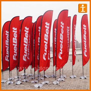 Custom Advertising Cheap Beach Flags (TJ-65) pictures & photos